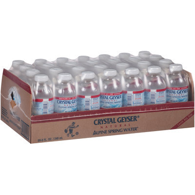 Crystal Geyser® Natural Alpine Spring Water® 28-8 fl. oz. Bottles