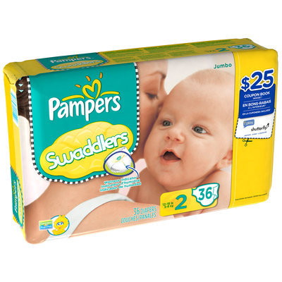 Pampers Swaddlers Jumbo Pack Size 2 Diapers 36 ct Bag