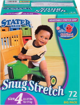 Stater Bros. Snug Stretch™ Diapers Size 4 22-37 lbs. Big Pack 72 ct. Box