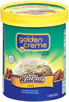 Golden Creme Walnut Ice Cream 1.75 Qt Carton