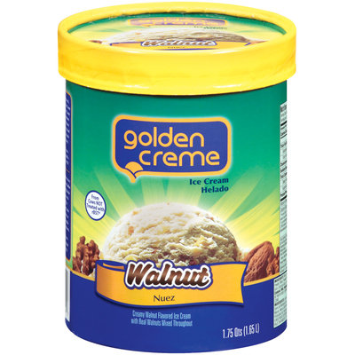 Golden Creme Walnut Ice Cream 1.75 Qt Carton