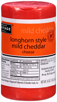 American Heritage® Longhorn Style Mild Cheddar Cheese