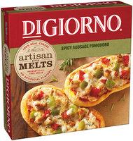 DIGIORNO Artisan Style Melts Spicy Sausage Pomodoro Pizza Box
