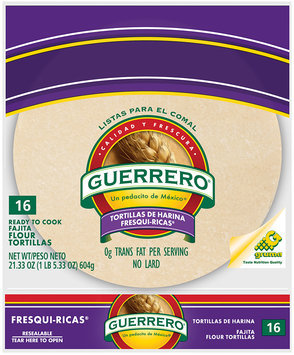 Guerrero® Fresqui-Ricas® Flour Fajita Ready to Cook Tortillas 16 ct 21.33 oz.