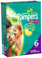 Pampers Baby Dry Size 6 Convenience Pack Diapers 18 ct Bag