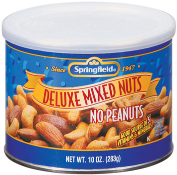 Springfield Deluxe Mixed No Peanuts Nuts 10 Oz Canister