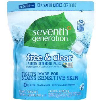 Seventh Generation™ Free & Clear Laundry Detergent Packs 45 ct Stand-Up Bag