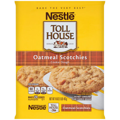 Nestlé TOLL HOUSE Oatmeal Scotchies Cookie Dough 16 oz. Bar