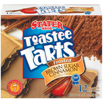 Stater Bros. Frosted Brown Sugar Cinnamon 12 Ct Toastee Tarts 22 Oz Box