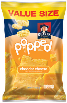 Quaker® Popped® Cheddar Cheese Rice Snacks 14 oz. Bag