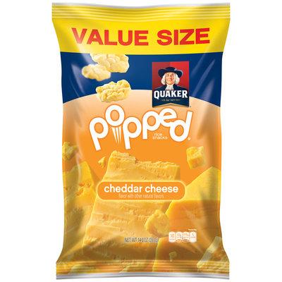 Quaker® Popped® Cheddar Cheese Rice Snacks 14 oz. Bag