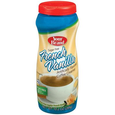 Your Brand French Vanilla Sugar Free Coffee Creamer 10.2 Oz Plastic Jar