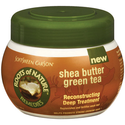Roots of Nature Green Tea Reconstructing Deep Treatment For Hair Shea Butter 10 Oz