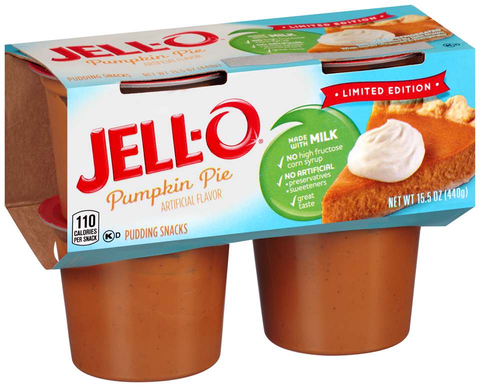 Jell-O® Limited Edition Pumpkin Pie Pudding Snacks 4 ct Cups