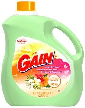 Gain with FreshLock Island Fresh Liquid Fabric Softener 129 fl. oz. Bottle