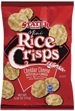 Stater Bros. Mini Cheddar Cheese Rice Crisps 6.06 Oz Bag