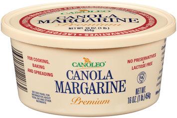 Canoleo® Premium Canola Margarine 16 oz. Tub