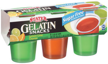Stater Bros. Sugar Free Lemon-Lime Orange Gelatin Snacks 3.25 Oz Cups