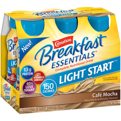 Carnation Breakfast Essentials® Light Start™ Cafe Mocha Complete Nutritional Drink