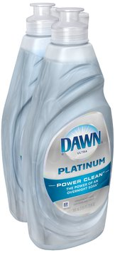 Dawn Platinum Power Clean Refreshing Rain Scent Dishwashing Liquid 2-20 fl. oz. Bottles