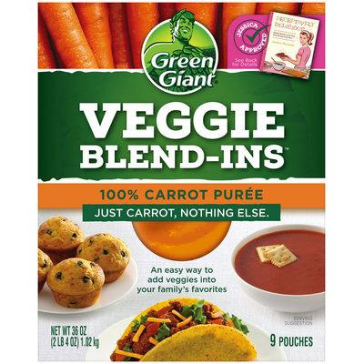 Green Giant® Veggie Blend-Ins™ 100% Carrot Puree 9-4 oz. Pouches