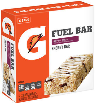 Gatorade Prime® Oatmeal Raisin Fuel Bar Energy Bar 6-2.1 oz. Bars