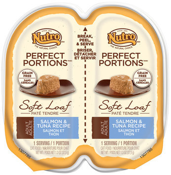Nutro® Perfect Portions™ Adult Salmon & Tuna Recipe Soft Loaf Cat Food 2-1.3 oz. Trays