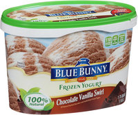 Blue Bunny® Chocolate Vanilla Swirl Frozen Yogurt 1.75 qt. Tub