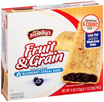 Mrs. Freshley's® Fruit & Grain Blueberry Cereal Bars 6-1 oz. Packs