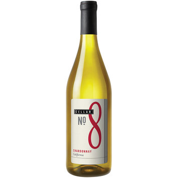 Cellar No. 8 California Chardonnay Wine 750mL Glass Bottle