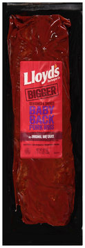 Lloyd's® Barbeque Co. Seasoned & Smoked Babyback Pork Ribs in Original BBQ Sauce 43.1 oz. Package