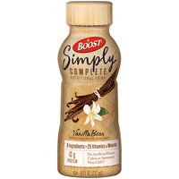 Boost® Simply Complete™ Vanilla Bean Nutritional Drink 8 fl. oz. Plastic Bottle