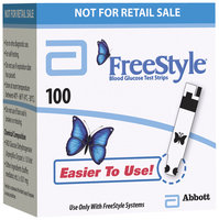 Freestyle For In Vitro Diagnostic Use Test Strips Not For Retail Sale 100 Ct Box