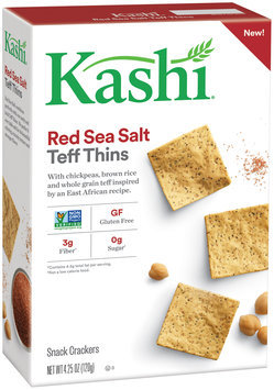 Kashi® Red Sea Salt Teff Thins Snack Crackers 4.25 oz. Box