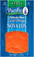 Pacific Sustainable Seafood™ Columbia River Steelhead Nova Lox 3 oz. Pouch