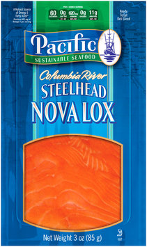 Pacific Sustainable Seafood™ Columbia River Steelhead Nova Lox 3 oz. Pouch