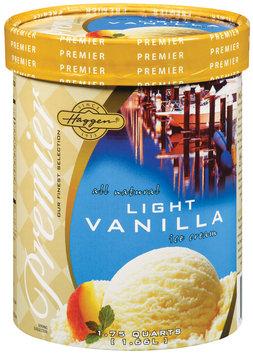 Haggen Premier All Natural Light Vanilla Ice Cream 1.75 Qt Carton