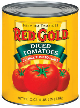 Red Gold Diced In Thick Tomato Puree Tomatoes 102 Oz Can