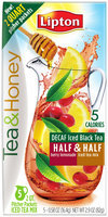 Lipton® Tea & Honey Decaf Iced Black Tea Half & Half Berry Lemonade Iced Tea Mix 5 - .58 oz. Box