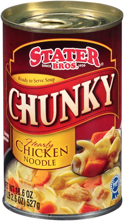 Stater® Bros. Chunky Hearty Chicken Noodle Soup 18.6 oz. Can