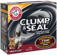 Arm & Hammer™ Clump & Seal™ Mulit-Cat Complete Odor Sealing Litter 10 lb. Box