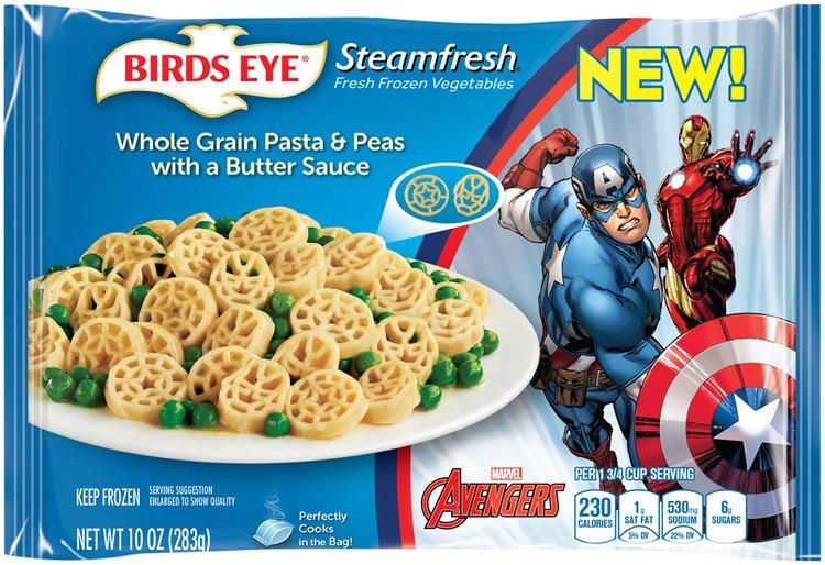 Birds Eye® Steamfresh® Marvel Avengers™ Whole Grain Pasta & Peas with a Butter Sauce Frozen Entree 10 oz. Bag