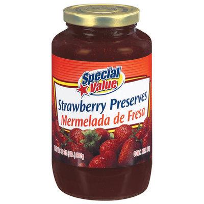 Special Value Strawberry Preserves 32 Oz Jar