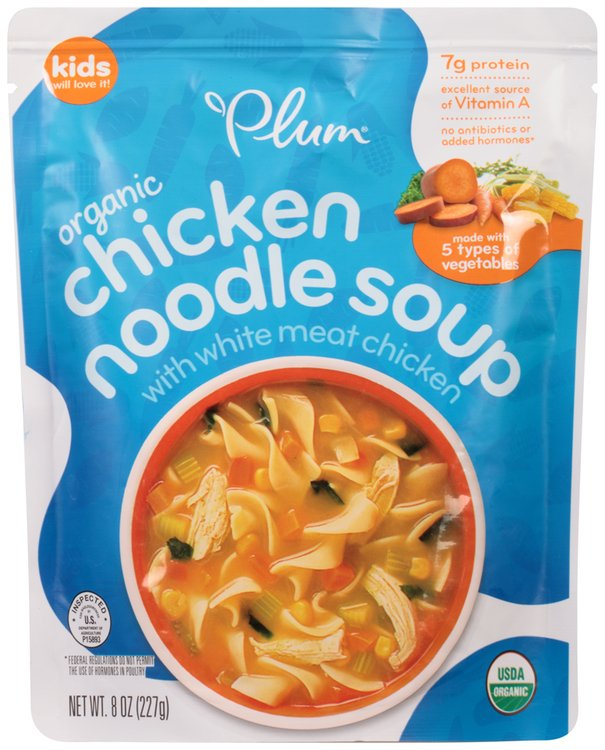 Plum® Organic Chicken Noodle Soup with White Meat Chicken 8 oz. Bag