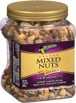 Planters Deluxe Mixed Nuts with Sea Salt Canister
