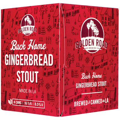 Back Home Gingerbread Stout Beer 4 ct Box
