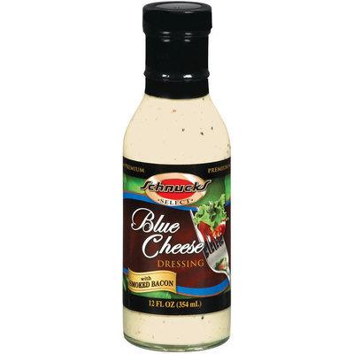 Schnucks Premium Blue Cheese W/Smoked Bacon Salad Dressing 12 Fl Oz Glass Bottle