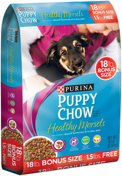 Purina Puppy Chow Healthy Morsels Dog Food Bonus Size 18 lb. Bag