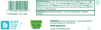 Stretch Island® Organic Apple Cinnamon Fruit Strip 0.5 oz. Wrapper