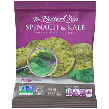 The Better Chip® Spinach & Kale Whole Grain Chips 1.5 oz. Bag